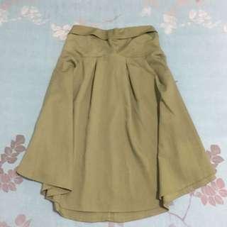 🚚 赫本風優雅綠色韓版平口洋裝