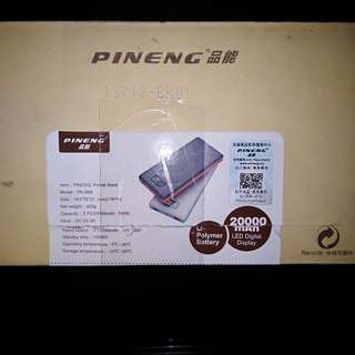 Power bank pineng 20.000 mah available white and black