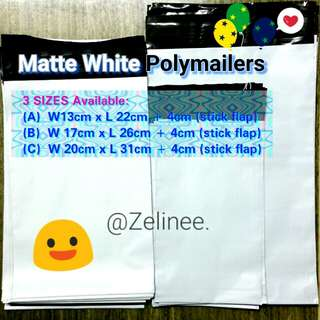[Mar!] Matte WHITE Polymailers