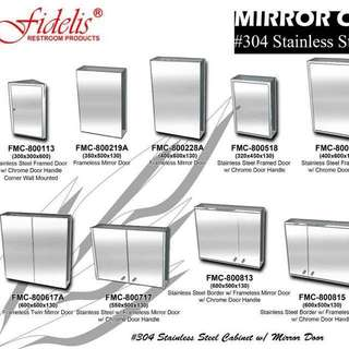 #*304 Stainless Steel Mirror Cabinet*