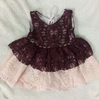 Baby Jane inspired 2 layer lace dress