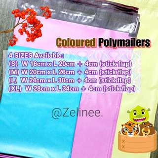 Coloured POLYMAILER Bags