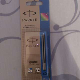 New Authentic Parker fountain pen refill blue