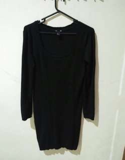 Knit black dress by hnm