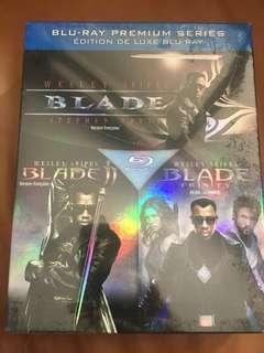 Blade, Blade II, Blade Trinity, 3 disc blu ray set