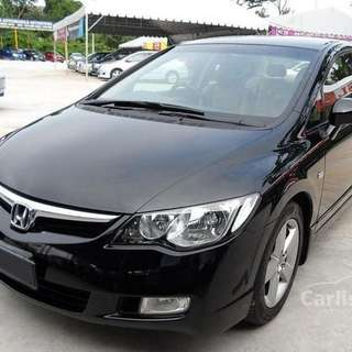 Honda civic 1.8A 2008 black
