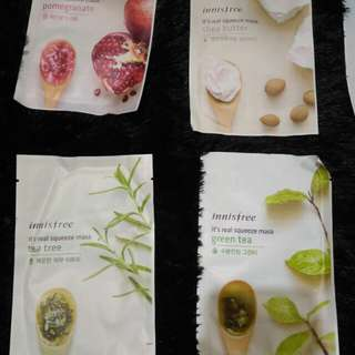 Innisfree squeeze mask sisa 9 pc!