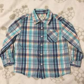 Cherokee checkered long sleeved shirt