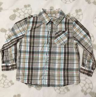 Cherokee checkered long sleeved shirt
