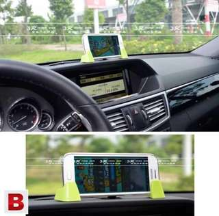3R-1001 Car Dashboard Mobile Phone Holder - Black