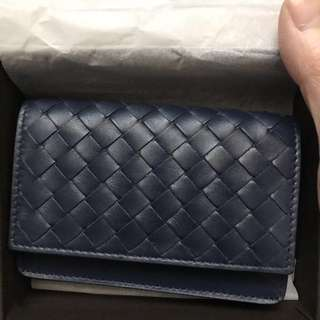 bottega veneta BV navy card holder