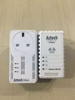 Aztech Homeplug 200mbps with wireless extender