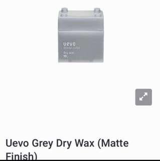 Uevo Grey Dry Wax (Matte Finish)