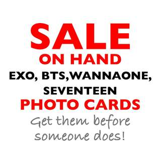 SALE! EXO BTS SEVENTEEN WANNA ONE UNOFFICIAL PHOTO CARDS