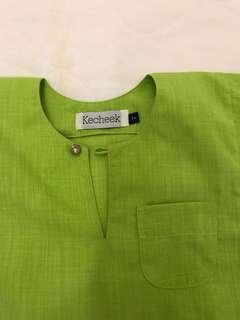 Baju Melayu Budak- lime green