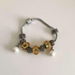 潘朵拉系列手鍊黃水晶招財款