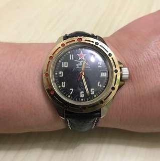 95%new古董蘇聯手動上鏈軍錶