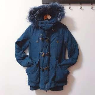 SLY N3B中長款 藏藍色鋪棉外套-2號