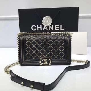 Boy Chanel 金線菱格