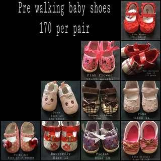 Prewalking baby shoes