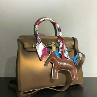 Inspired Designer Jelly Birkin Brown Bag