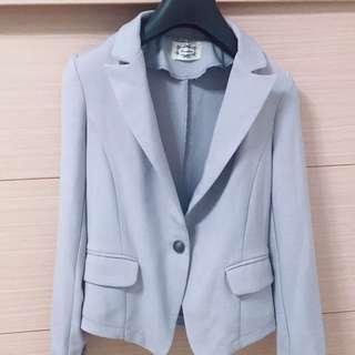 春款韓版雙口袋短西裝外套