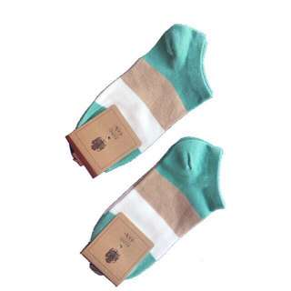 Korean striped low-cut socks