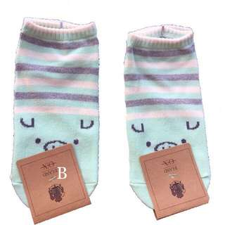 Korean piggy low-cut socks