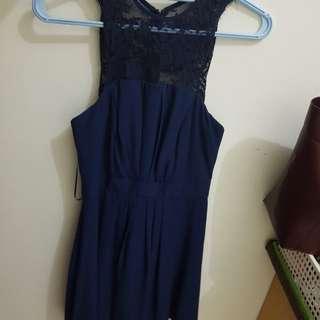 Asos dress renda biru