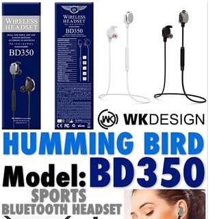 WK DESIGN HUMMING BIRD series🕊 Sports Bluetooth Headset🎧 (BD-350)
