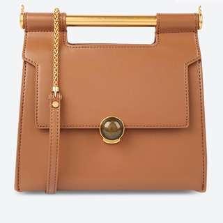 Charles & Keith Metallic Handle Handbag