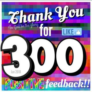300 Thank You!