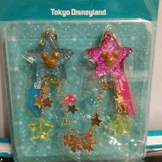 BNIP! Official Tokyo Disneyland Mickey and Minnie Hanging Chain Accessories