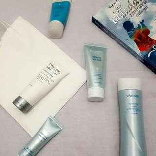 scrub, face mask , foam, daily cream ( step2 ) , toner