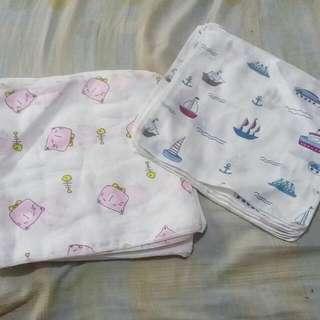 Knee Pads, Bandana Bib, Baby Handkerchief
