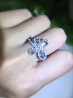 18K白金 [細工]蜻蜓鑽石戒指