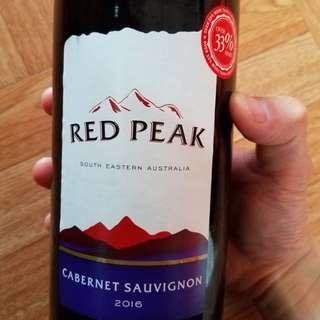 💯Red Peak (AU) Cabernet Sauvignon 2016