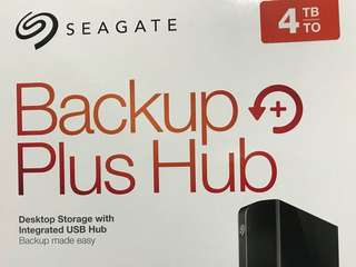Seagate backup plus hub - 4TB