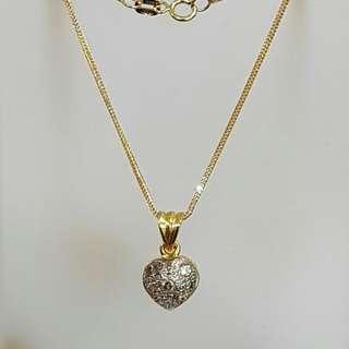 14k with diamond necklace