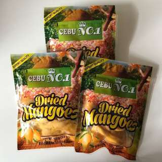 Dried Mangoes Cebu NO.1  100g  Product of the Philippines (3 packs)