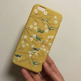 MATTE PRINTED YELLOW CASE FOR IPHONE 6/6s