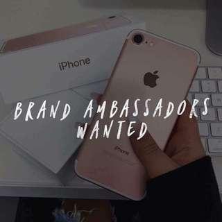Brand Ambassadors WANTED!!!