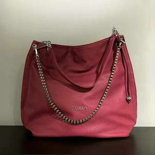 Furla Hobo Bag Maroon Color