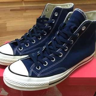 【極新美品】CONVERSE ALL STAR '70 1970 三星標 帆布鞋 海軍藍/深藍 9.5(28cm)