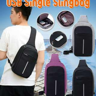 Anti theft USB SlingBag