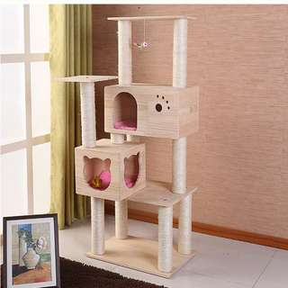 {InStock} Solid Wood Cat Condo W150SS
