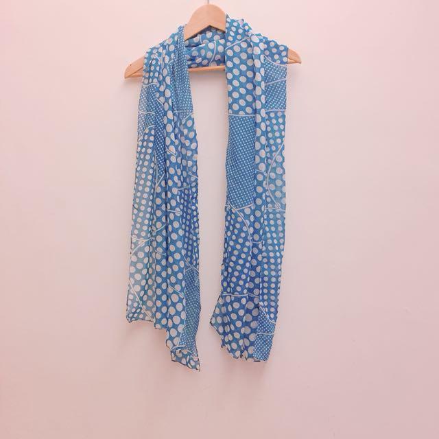 藍色春天絲巾