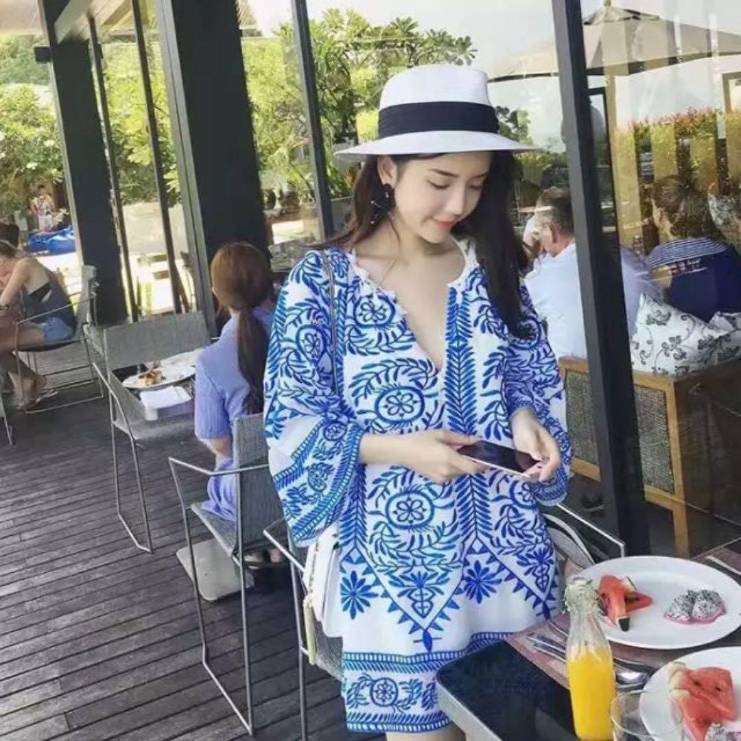海島度假民族風連身洋裝
