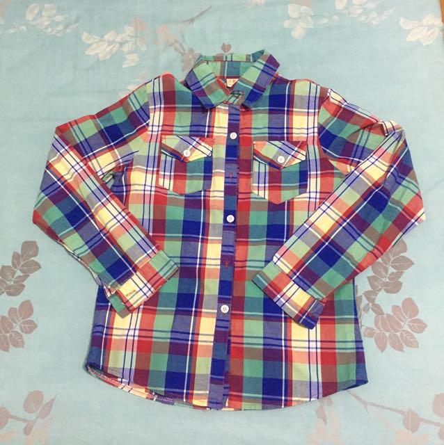 彩色格子襯衫