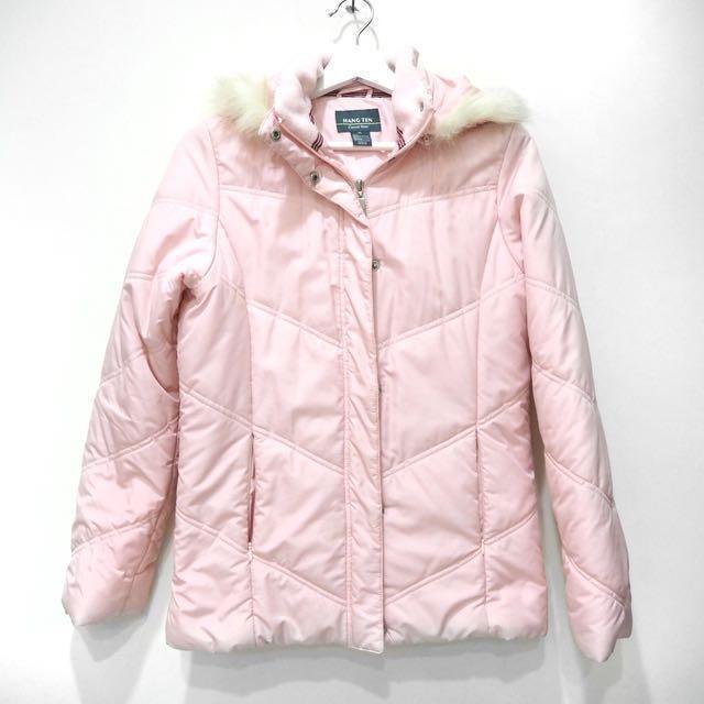 粉色保暖外套 #換季五折